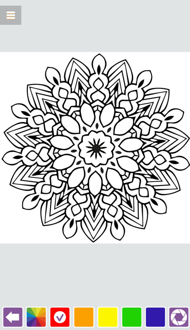 Mandala Coloring Book HTML5
